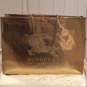 """AUTHENTIC LARGE """"BURBERRY"""" SHOPPING BAG"""